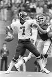 Joe Theismann. Washington Redskins QB Joe Theismann, #7.  (Image taken from B&W negative Royalty Free Stock Images