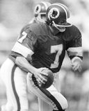 Joe Theismann. Washington Redskins QB Joe Theismann, #7.  (Image taken from B&W negative Royalty Free Stock Photo
