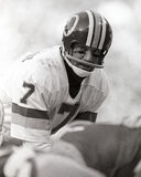 Joe Theismann. Washington Redskins QB Joe Theismann, #7 (Image taken from b&w negative Royalty Free Stock Photography