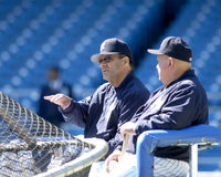 Joe Torre and Don Zimmer Royalty Free Stock Images