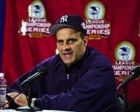 Joe Torre New York Yankeeschef Royaltyfri Fotografi