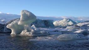 Joekulsarlon vinter i Island, Europa arkivfilmer