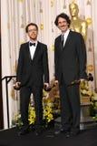 Joel Cohen y Ethan Cohen fotos de archivo libres de regalías