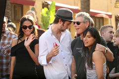 Joel David Moore, Michelle Rodriguez, Stephen Lang, Zoe Saldana, James Cameron Foto de Stock Royalty Free