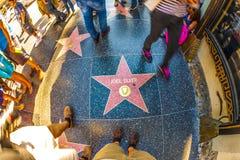 Joel Osrebrza gwiazdę na Hollywood spacerze Zdjęcia Royalty Free