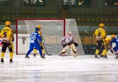 Joel Oten (1) goaltender of SKA team Stock Photography