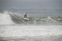 Joel Parkinson riding a wave stock photos