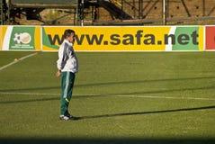 Joel Santana - premier entraîneur de Bafana Bafana Image libre de droits