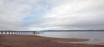 Joemma-Strand-Nationalpark-Pier-und Boots-Dock auf Puget Sound nahe Tacoma Washington Stockbilder