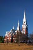 Joensuu Ewangelicki Luterański kościół Finlandia obrazy royalty free