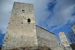Joergenberg Castle Ruin / Munt Sogn Gieri Stock Image
