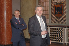 Joern Kubicki, Klaus Wowereit. The mayor of Berlin with his partner - file image of 2007 Stock Image