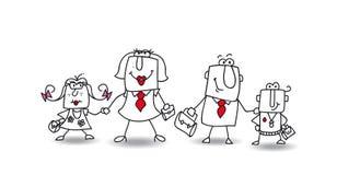 Joesfamilie vector illustratie