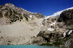 Joffre Lake Glacier, Bc. This image was taken at Upper Joffre Lake near Pemberton BC Canada Stock Images