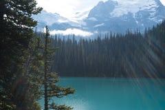 Joffre Lake Hike första sjö Royaltyfria Bilder