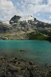 Joffre Lake superiore con il ghiacciaio di Matier Immagine Stock Libera da Diritti