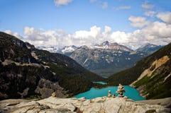 Joffre Lakes da sopra, Pemberton, Columbia Britannica Fotografia Stock Libera da Diritti