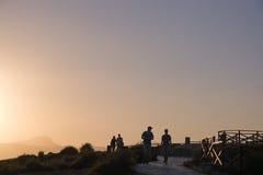 Jog и rollerblade людей стоковая фотография