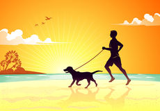 Jog with the Dog Royalty Free Stock Photography