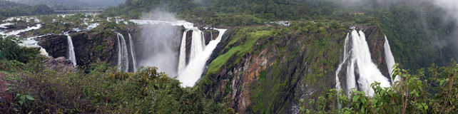 Jog Falls Panorama Stock Photo