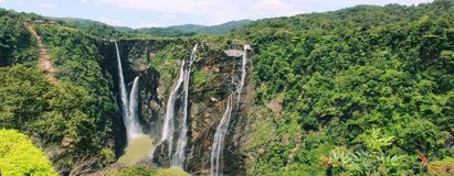Jog Falls. This Falls is the second highest waterfall in India and is in Shivamogga District of Karnataka. Nearest town is Talaguppa from where it is 12kms. Best Royalty Free Stock Images