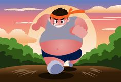 Jog To Reduce Weight. An image of a fat and obese young man jogging early in the morning Stock Photos