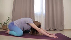 Joga dla kobieta w ciąży 04 zbiory wideo