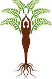 Joga drzewa logo ilustracja wektor