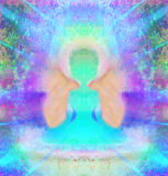 Joga duchowość i kobieta ilustracji