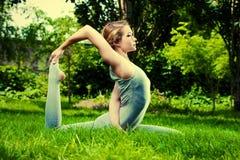 Joga i natura zdjęcie royalty free