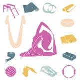 Joga i Pilates wyposażenia set Zdjęcia Stock
