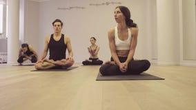 Joga klasa Ashtanga joga Lotosowa poza zbiory wideo