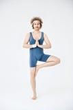 Joga klasa Przebrzmiała sport odzież mistrzu jogi człowieku Zdjęcie Stock