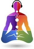 Joga logo royalty ilustracja