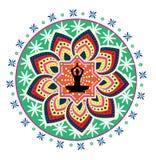 Joga lotosu postura Obrazy Royalty Free