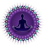 Joga lotosu postury ikona ilustracji