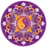 Joga mandala Zdjęcie Royalty Free