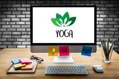 JOGA medytaci zdrowie równowagi relaksu równowagi świeża żywność Hea Obraz Royalty Free