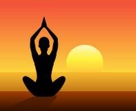 Joga medytacja Fotografia Royalty Free
