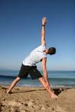joga na plaży Zdjęcia Stock