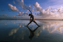 joga na plaży Obraz Stock