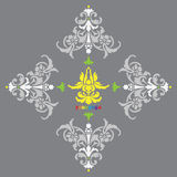 Joga sztandaru ikona na popielatym tle Fotografia Royalty Free