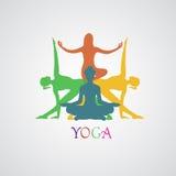 Joga, wektorowa ilustracja, app, sztandar Obraz Royalty Free