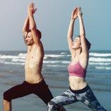Joga Wellness duchowości ćwiczenia medytaci opieka zdrowotna Concep Fotografia Royalty Free
