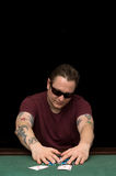 Jogador Aces do pôquer Fotografia de Stock Royalty Free