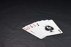 Jogador afortunado do póquer Fotografia de Stock