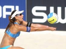 Jogador Ana Paula Connelly da salva da praia Imagem de Stock