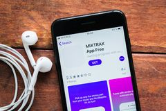 Jogador audio da aplicação móvel fotografia de stock royalty free
