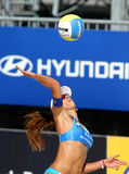 Jogador brasileiro Ana Paula Connelly da salva da praia Foto de Stock