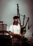 Jogador da gaita de fole de Nova Orleães foto de stock royalty free